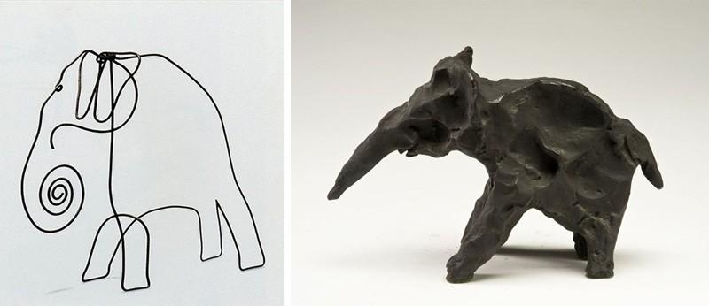 Скульптуры слонов Александр Колдер
