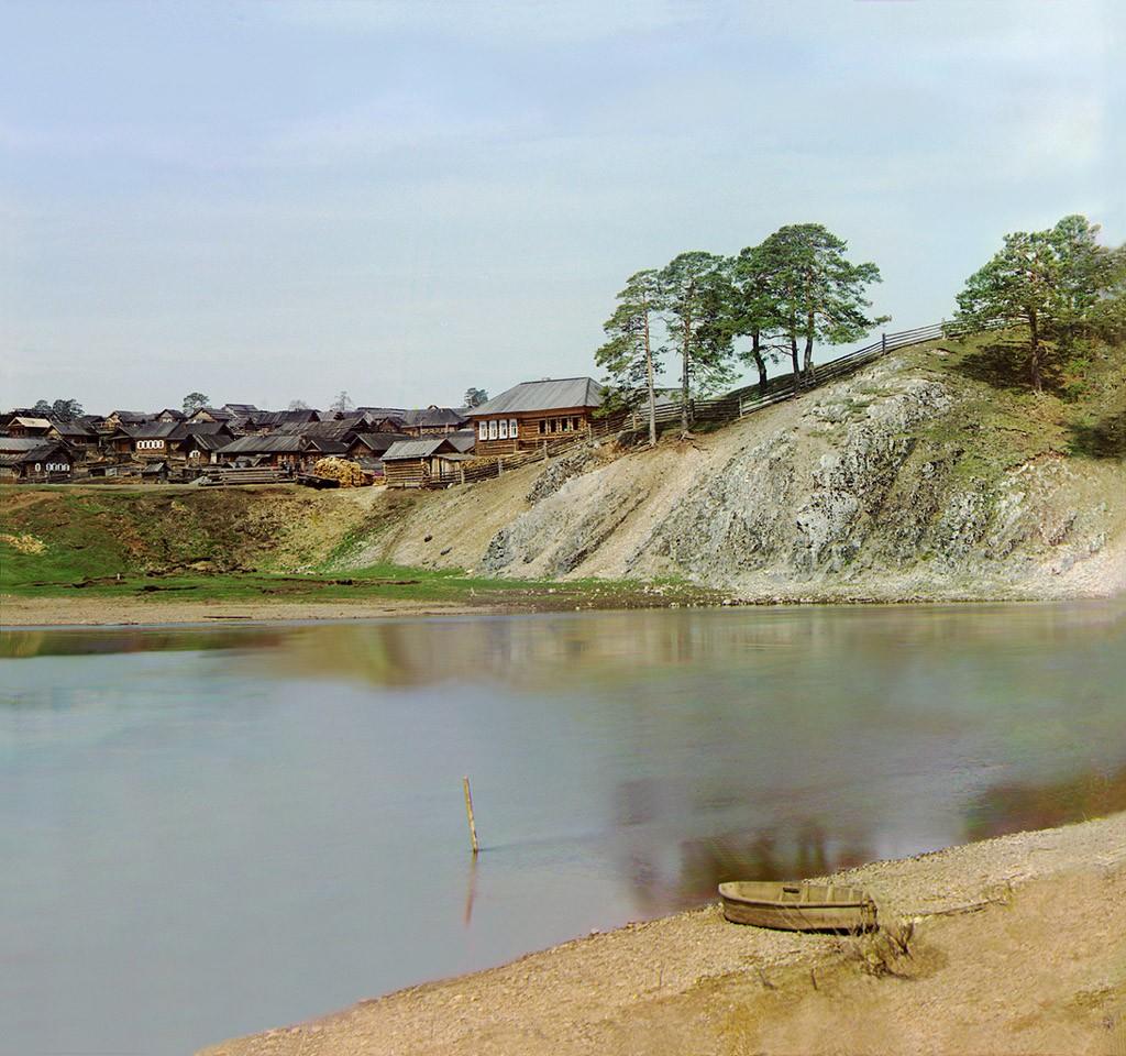 деревня, начало 20 века. фотография Прокудина Горского