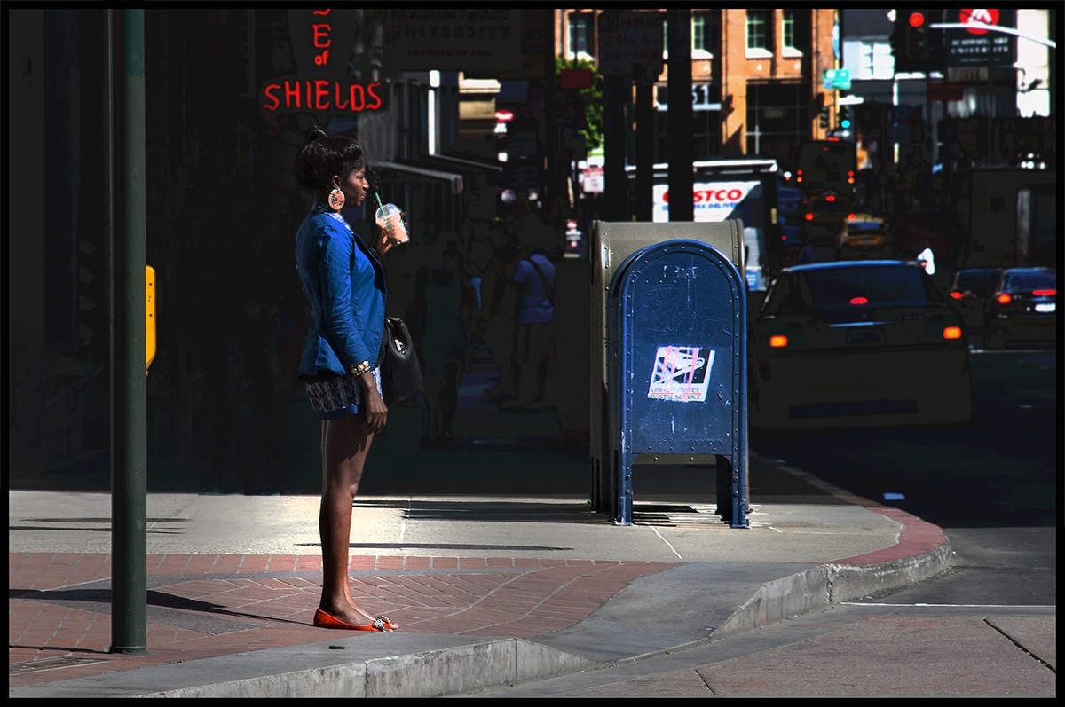 девушка на улице в сша
