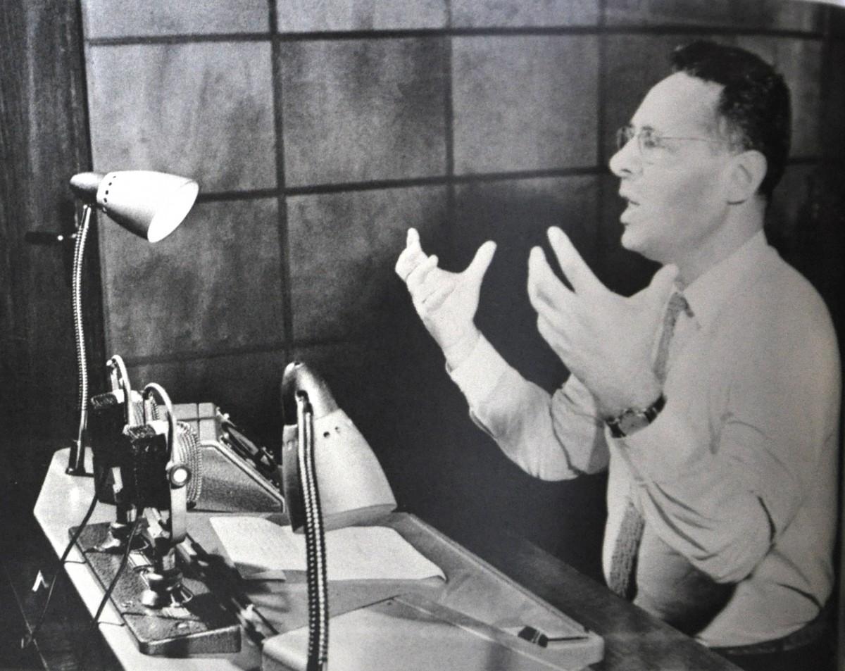 Ю.Б. Левитан передает сообщение ТАСС о полёте Юрия Гагарина, 12 апреля 1961