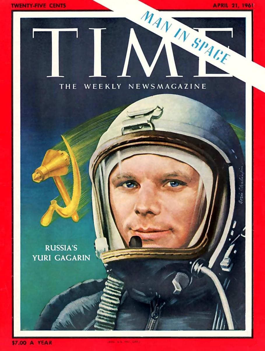 Time 1961 Yuri Gagarin