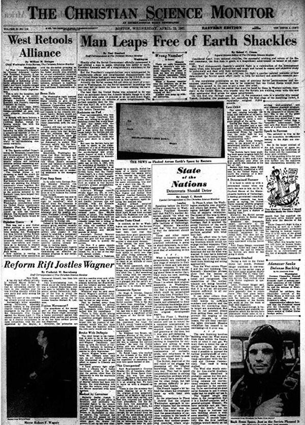 Христианская пресса о полёте Гагарина, 1961 год
