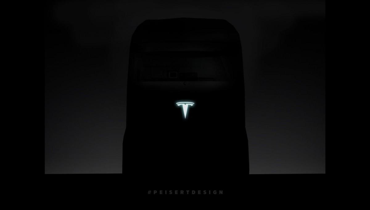 Рендер грузовика Тесла. Презентация состоится в сентябре 2017!