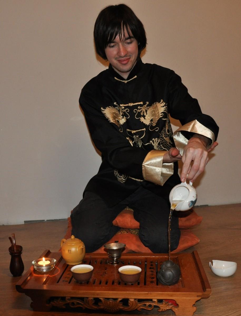 Гун Фу Ча китайская чайная церемония полив божества