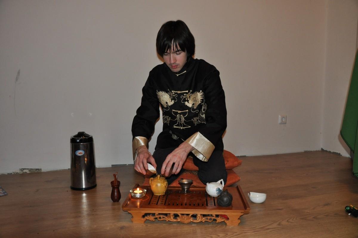 Прогревание чайника в гунфуча