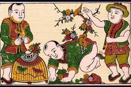 Вьетнамские новогодние открытки чань-тет