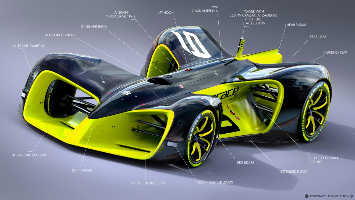 Roborace беспилотный гоночный автомобиль Дениса Свердлова