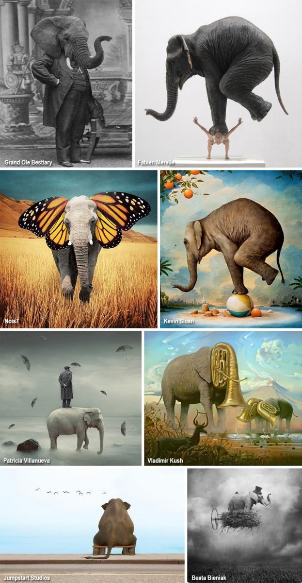 Сюрреализм: слоны