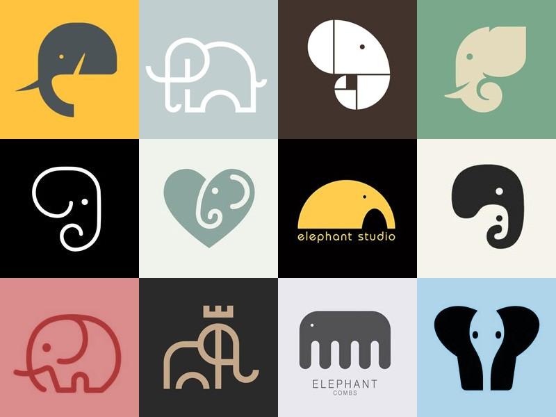 Слоны - логотипы брендов