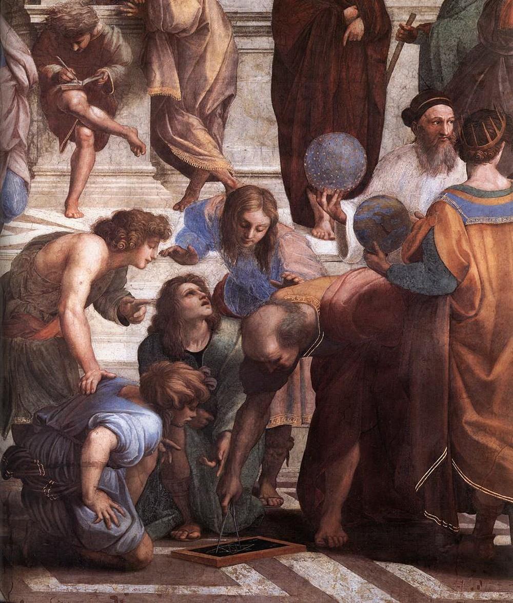 Заратустра держит небесную сферу в школу Рафаэля Афин