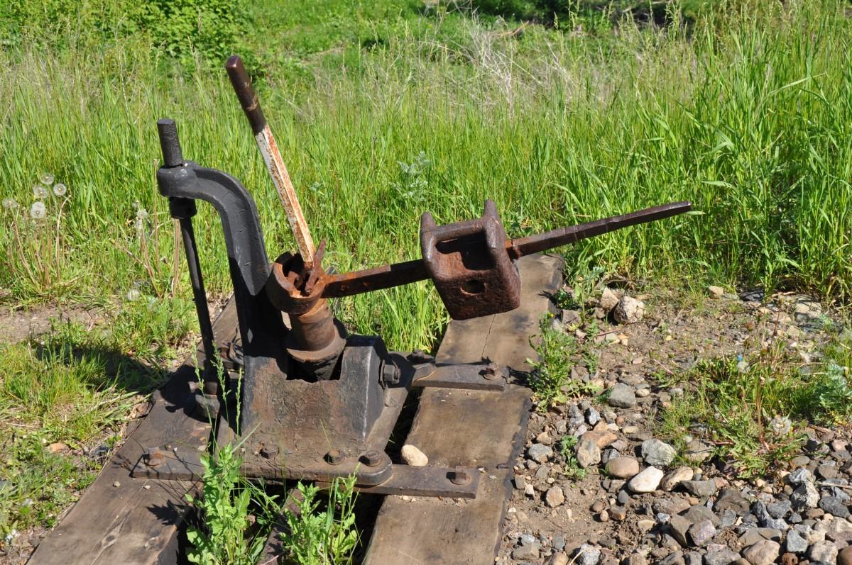 Стрелка на железнодорожных путях