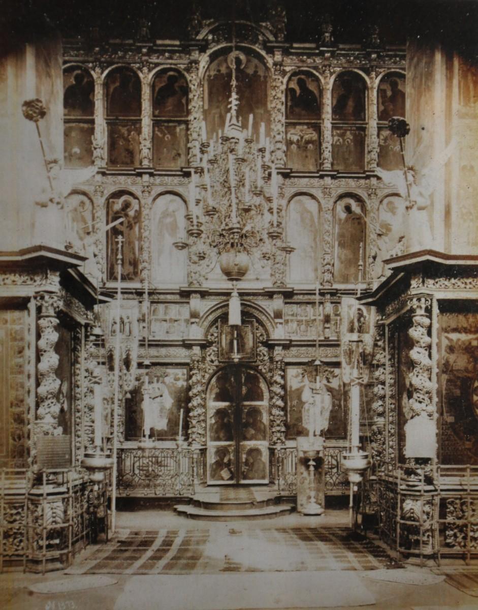 иконостас, фотография 19 века церкви Иоанна Предтечи в Толчкове, Ярославль