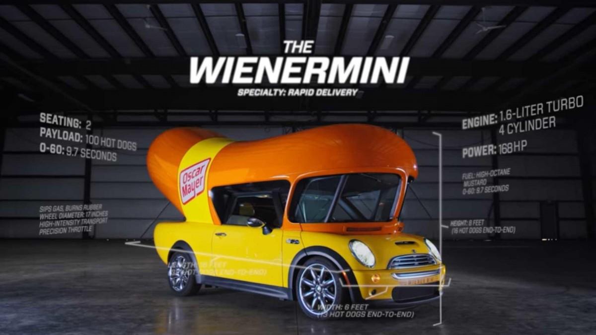 wienermini - автомобиль хот дог (сосиска)