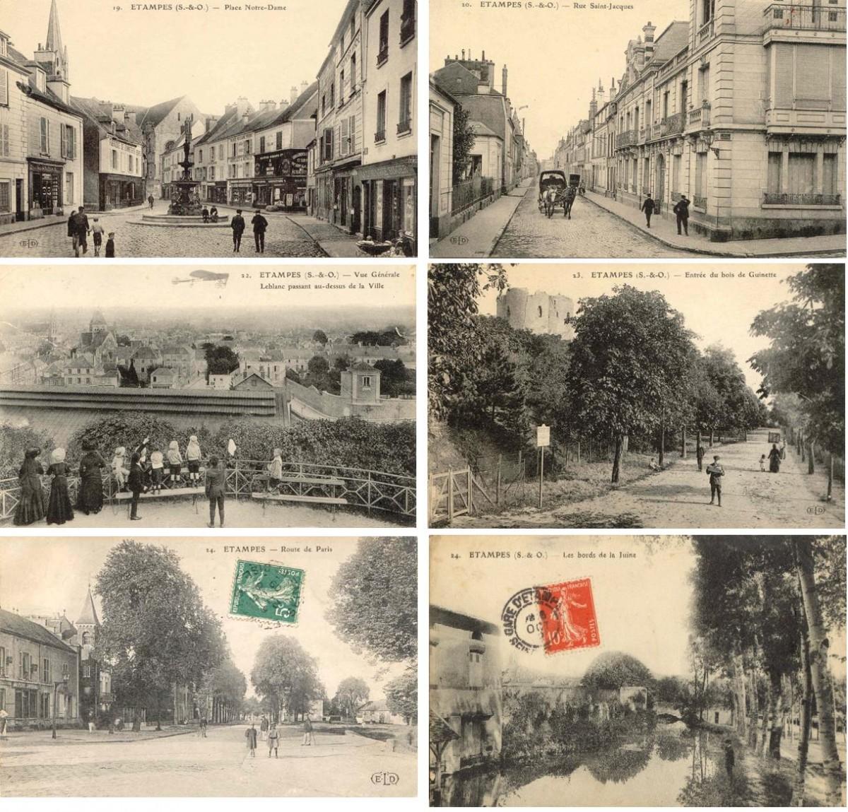 Париж на открытках, начало прошлого века