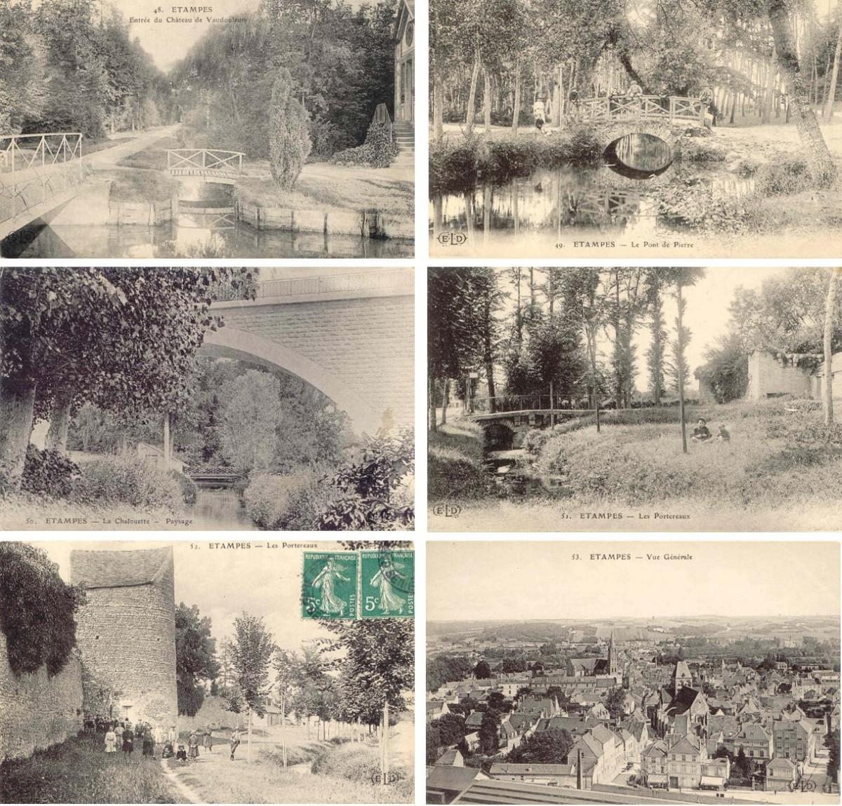 Французские парки на фото открытках начала 20 века