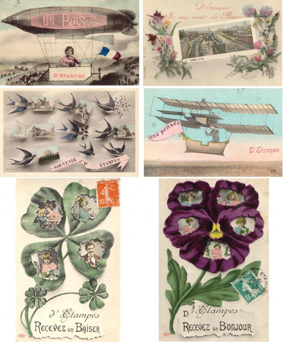 Поздравительные французские открытки, начало 20 века