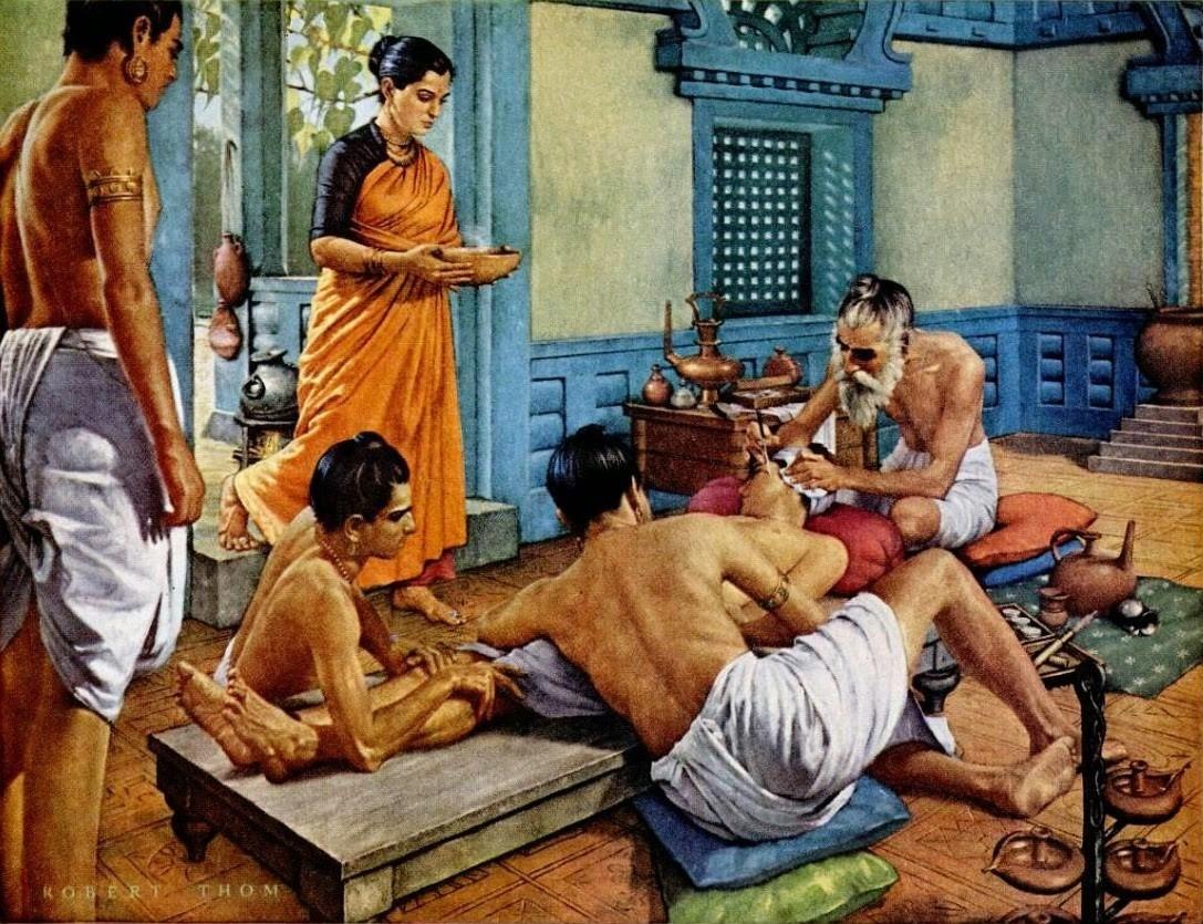 Искусство аюрведы в древней Индии