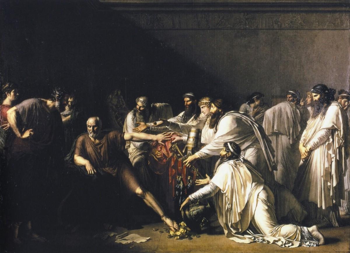 гиппократ оказывает помощь больному