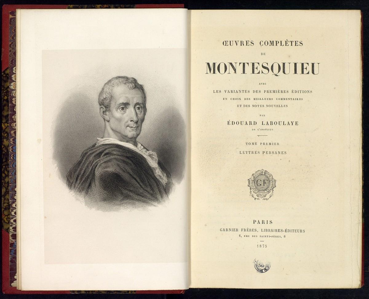 Труды Шарля Монтескьё