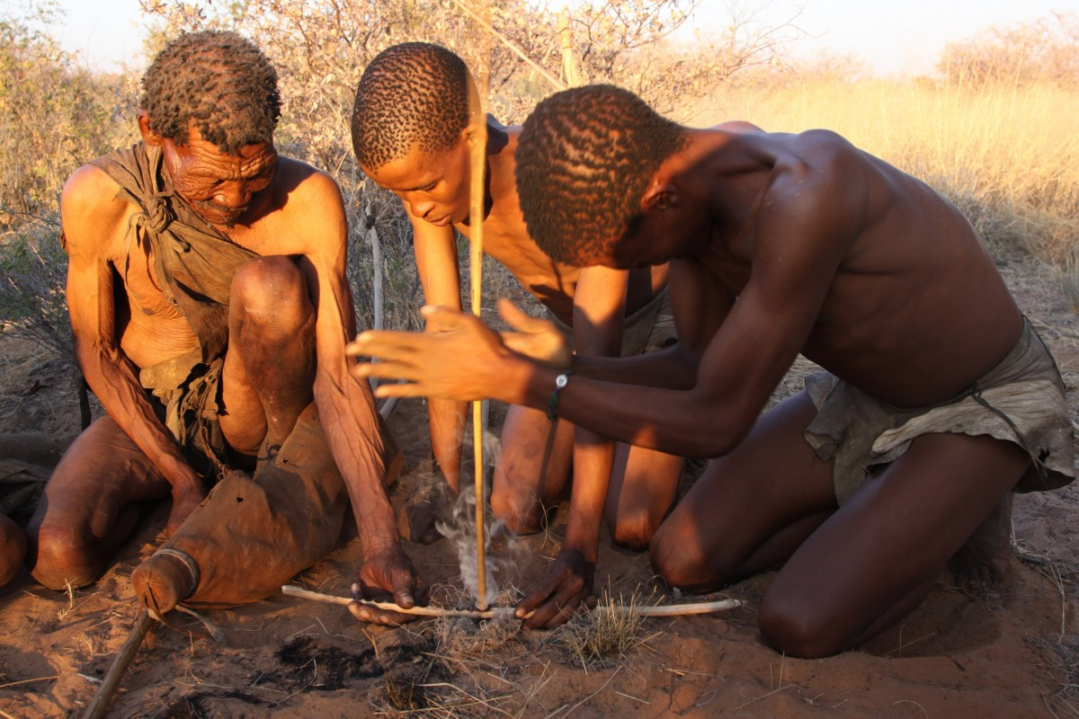 добывание огня в черной африке