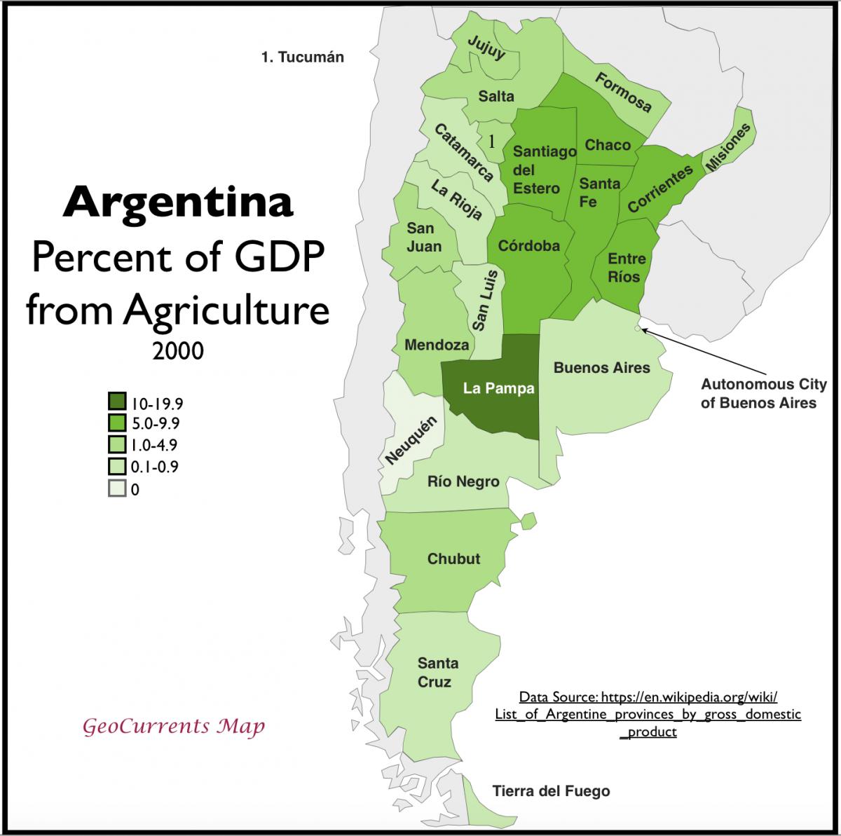 карта провинций Аргентины