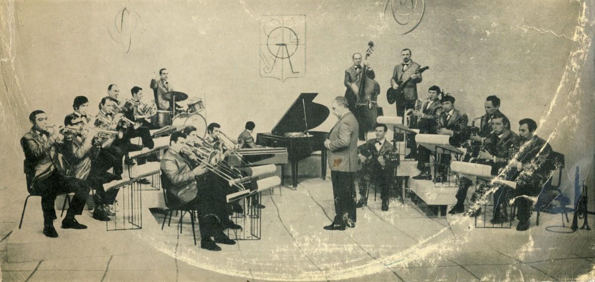 Олег Лундстрем со своим джазовым оркестром