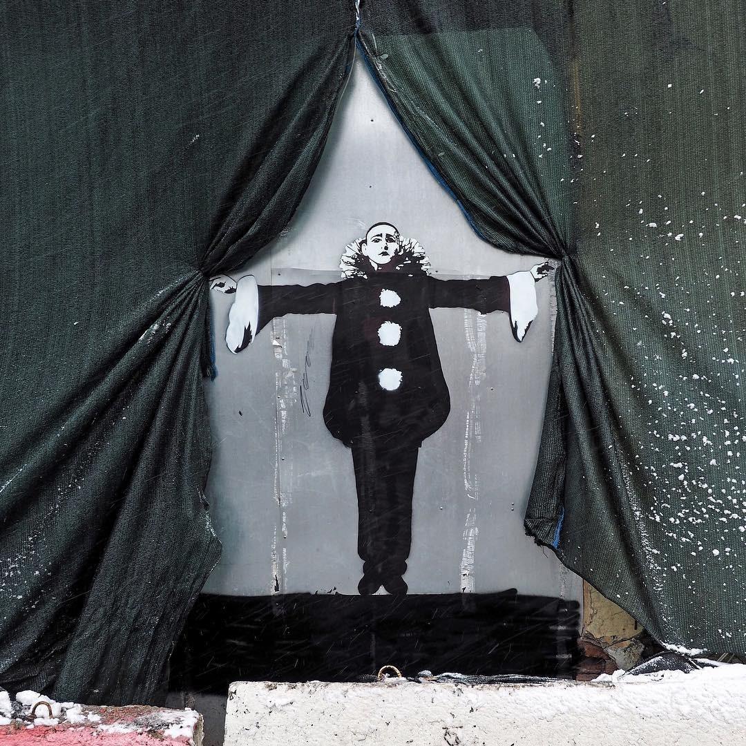 современное граффити с изображением Александра Вертинского