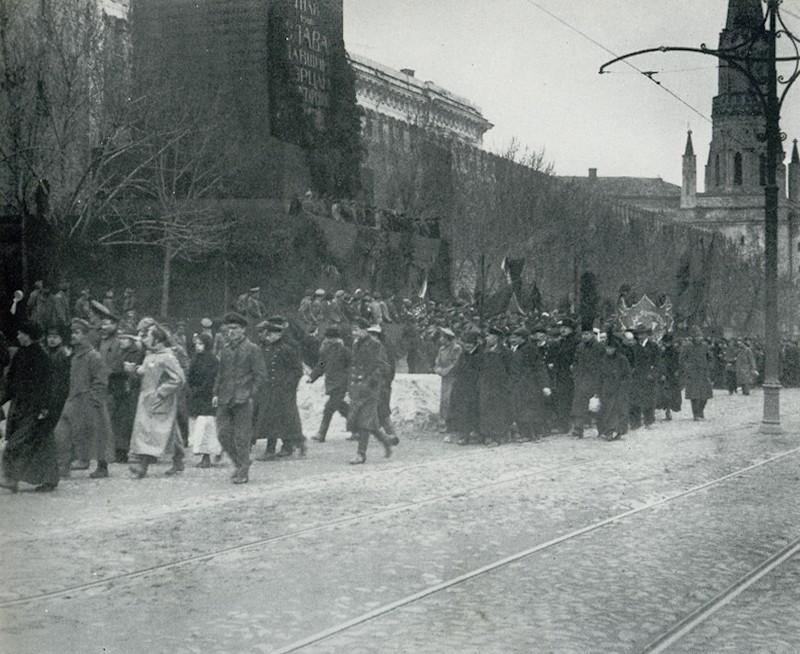 парад 1 мая 1918 года